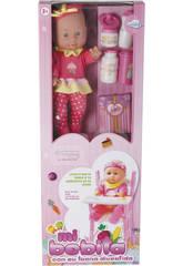 Baby Doll 30cm mit Hochstuhl und Zubehör
