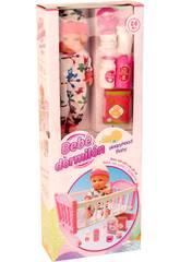Baby Doll 30cm mit Wiege und Zubehör