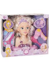 Busto Surtido Princesa Alexia con Accesorios 23x19x10cm