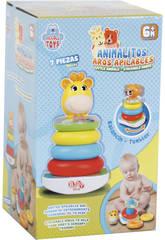Jouet pour Bébé Animalito Assortiment Anneaux Empilables et Son 21 cm 7 Pièces