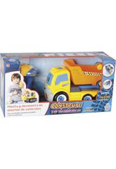 Construye tu Vehículo Camión Volquete 17x28x13cm