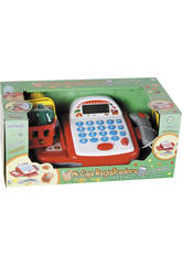 Caixa Registradora Com Calculadora, Escâner, Luzes, Som e Cesta de Compras 10x23x15cm