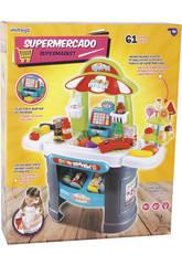 Supermercado Con Luces y Sonidos 61 Piezas 68x66x25cm