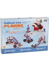 Juego de Construcción Crea Vehículos Con Placas 5 Figuras en 1