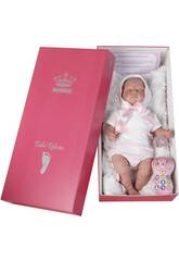 Poupée Reborn Bébé 52 cm Robe Blanche Berbesa 5301