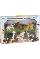 Figuras Set Perros Raza 6 Unidades 6cm