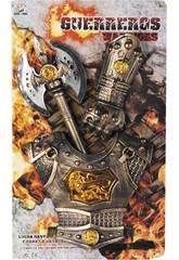 Accessori Set Guerriero 3 pezzi con Armatura, braccialetto e Ascia 43 cm