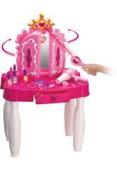 Coiffeuse Princesses Coeurs avec Accessoires et Connexion Mp3 71x49x29cm