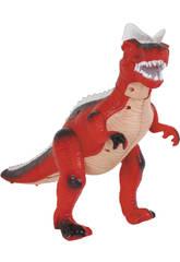 Figura Dinosaurio Andador Rojo 36 CM.