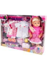 Bambola 40 cm con Vestito, Accessori e suoni