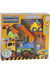 Construisez Vos véhicules de Construction 27 x 20 cm Couleur Jaune