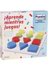 Puzzle Madera Formas 12 Piezas 20x20x1.5cm