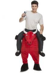 Disfraz Hombre L Ride On Toro Rojo