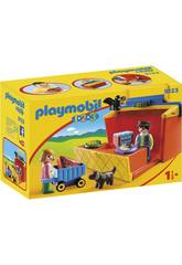 Playmobil 1, 2, 3 Étal de Marché Transportable 9123