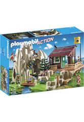 Playmobil Rocher d'Escalade avec Espace d'Accueil 9126