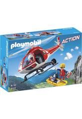 Playmobil Secouristes des Montagnes avec Hélicoptère 9127