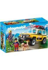 Playmobil Secouristes des Montagnes avec Véhicule 9128
