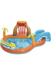Play Center Vulcano con Fondo Gonfiabile 265x265x104 cm. Bestway 53069