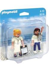 Playmobil Comandante e Hostess Nave 9216
