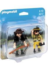 Playmobil DuoPack Garde Forestier et Braconnier 9217