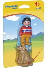 Playmobil 1.2.3 Uomo con Cane 9256