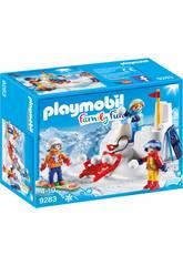 Playmobil Enfants avec Boules de Neige 9283