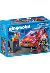 Playmobil Pompier avec Véhicule d'Intervention 9235