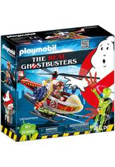 Playmobil Ghostbuster Venkman Mit Helikopter 9385
