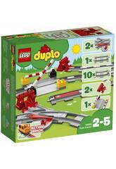 Lego Duplo Vías Ferroviarias 10882