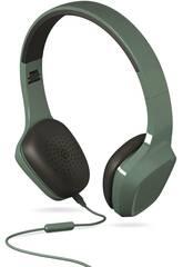 Fones de ouvido Mic 1 cor verde sistema de energia 428380