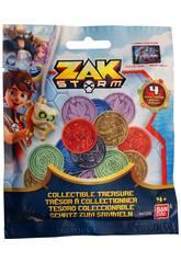 Pack 4 Münzen Zak Storm Bandai 41500