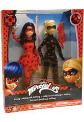 Pacchetto con 2 Bambole Ladybug e Antibug 27cm Bandai 39812