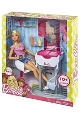 Barbie Kombination Möbel und Puppe Mattel DVX51