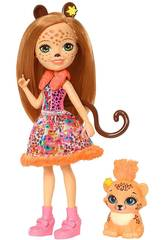 Enchantimals Muñeca y Mascota Cheris Leopardo Mattel FJJ20
