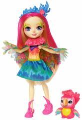 Enchantimals Poupée Peeki parrot y Mascotte Sheeny Mattel FJJ21