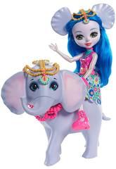 Enchantimals Muñeca Ekaterina y Elefante Mattel FKY73