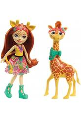 Enchantimals Muñeca Gillian Girafe y Pawl Mattel FKY74