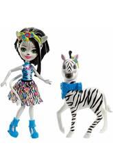 Enchantimals Zelena la Zebra Bambola e Cucciolo Cavalcabile Mattel FKY75