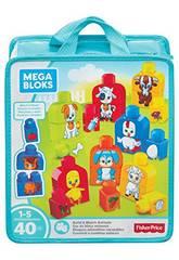 Bloques Animalitos Mega Bloks Encajables Mattel FLT36