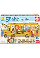 Baby Puzzle Bus Escolar Animales Educa 17575