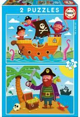 Puzzle 2X20 Pirates Educa 17149