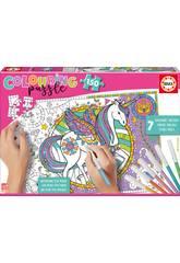 Puzzle 150 Unicornio Colorear Educa 17828