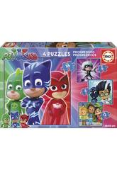 Puzzle PJ Masks Progressives 6-9-12-16 Educa 17731