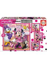 Puzzle progressive 12-16-20-25 Minnie Happy Helpers Educa 17630