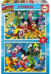 Puzzle 2x20 Mickey et Les Superpilotes Educa 17631