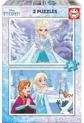 Puzzle 2X20 Frozen Educa 16847