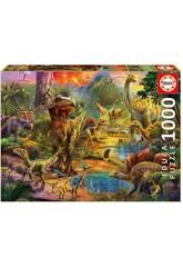 Puzzle 1000 Tierra de Dinosaurios Educa 17655