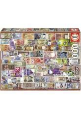 Quebra-cabeça 1000 Notas Do Mundo Educa 17659
