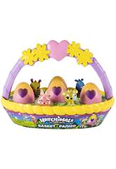Hatchimals Cesta 6 Figuras Bizak 9127