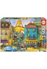 Puzzle 1500 Rues de Paris Educa 17122